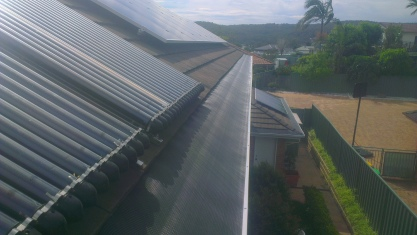 Tiles with solar panels